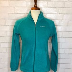 Columbia Turquoise Fleece Zip Up Jacket